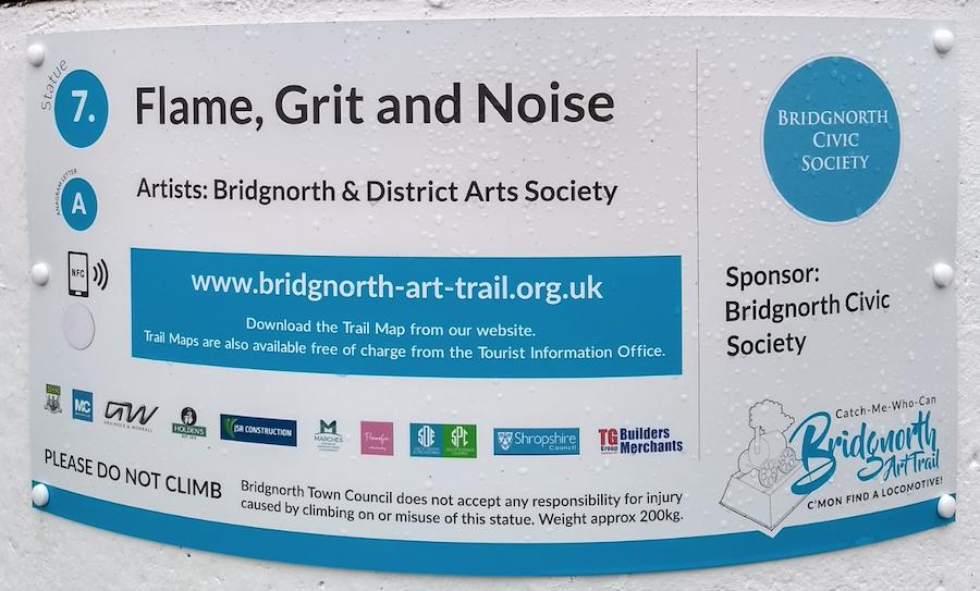 Bridgnorth Art Trail plaque for statue number 7