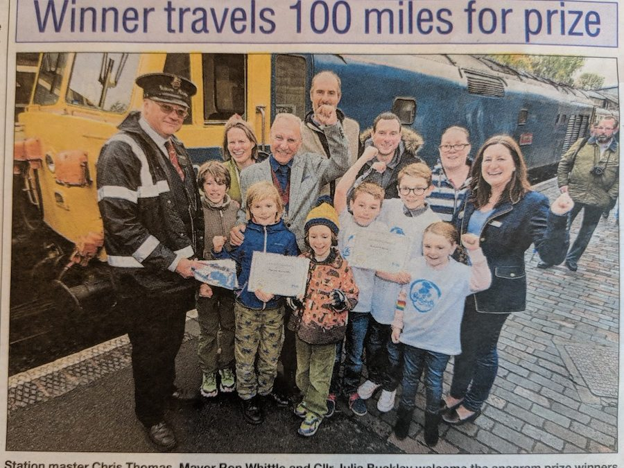 Lucky Lad Travels 100 Miles to Collect his Prize